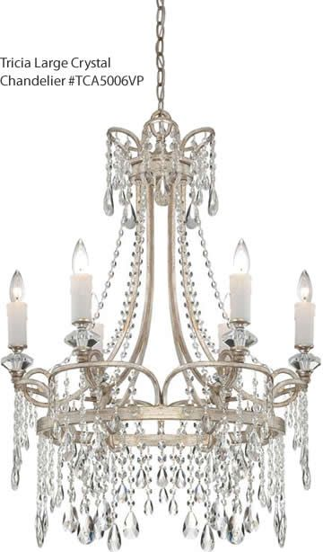 Quoizel Tricia Large Crystal Chandelier TCAVP Antique - Vintage chandelier crystals for sale