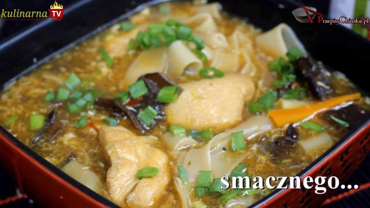 Zupa Z Kurczakiem Grzybami I Makaronem Ryzowym To Rewelacyjne