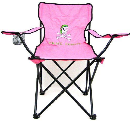 Pink Pirate Princess Folding Camp Chair Camping Private Label  Http://www.amazon