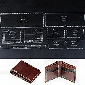 90d86a4e307f Amazon.com: WUTA Leather Acrylic Template for Men's Bifold DIY ...