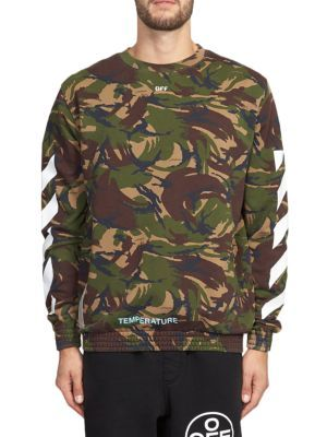 Off White Camo Print Pullover Off White Cloth Off White Men