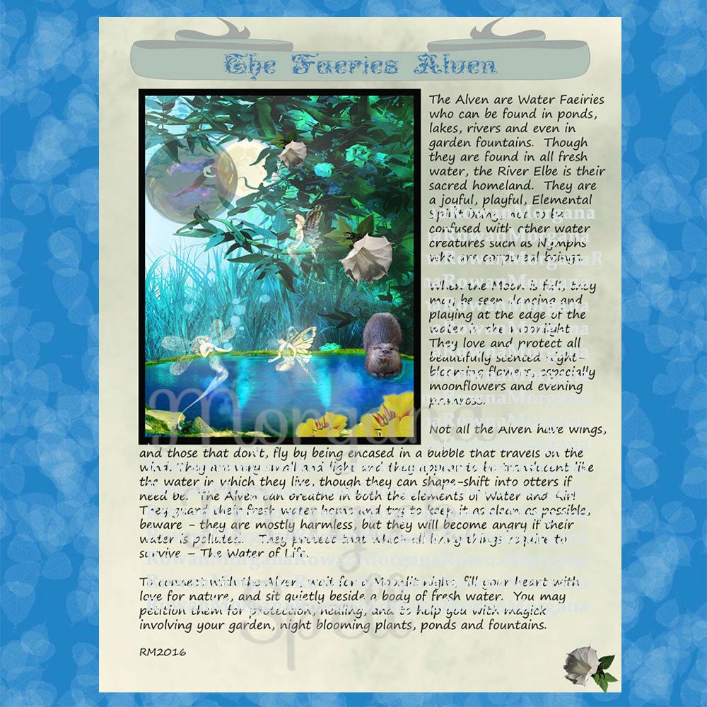 Faeries alven realm of the fey lore printable book of
