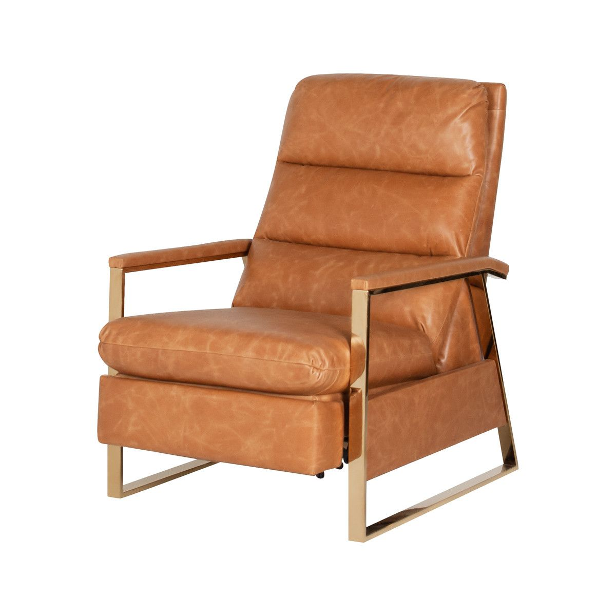 Pablo Recliner In Tobacco Leather In 2020 Leather Upholstery Modern Recliner Recliner