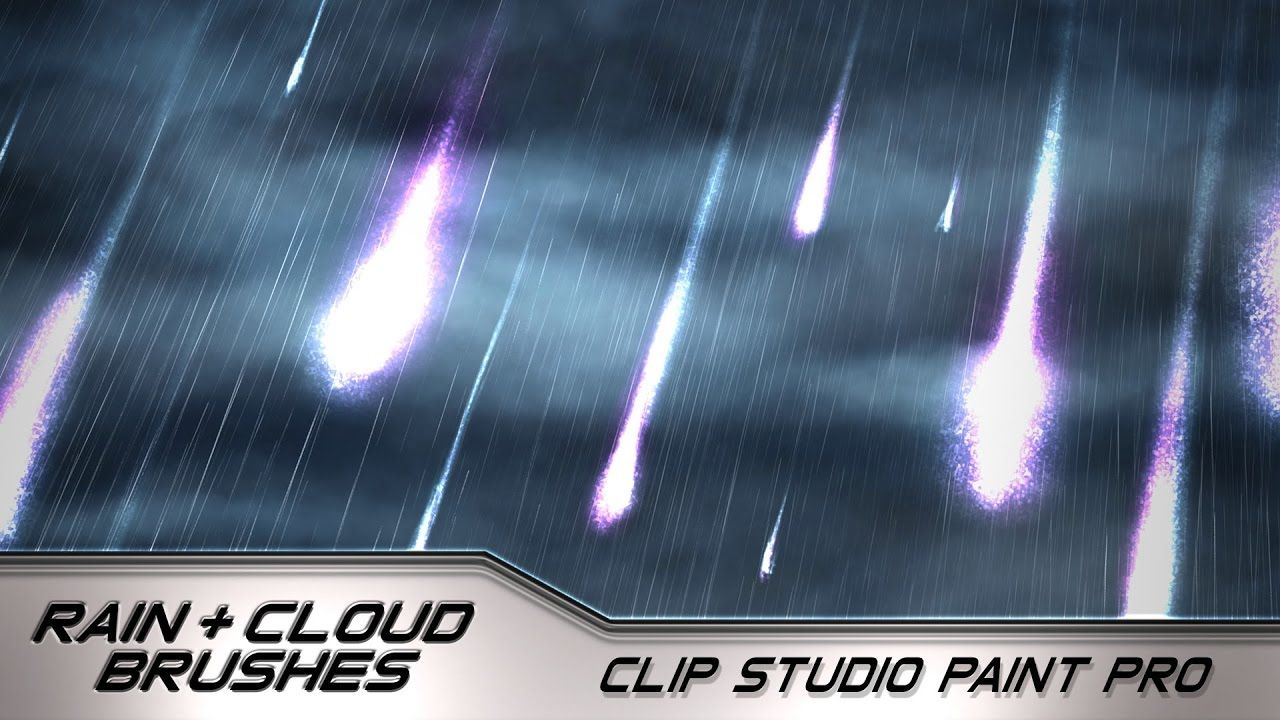 How to Use the Custom Cloud and Rain Brushes Clip Studio