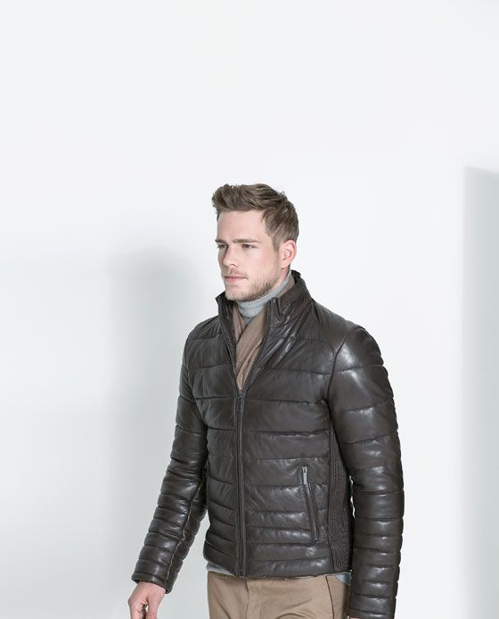 Quilted Leather Jacket, ZARA MAN Base Fabric: 100% Sheep Leather ... : zara leather quilted jacket - Adamdwight.com