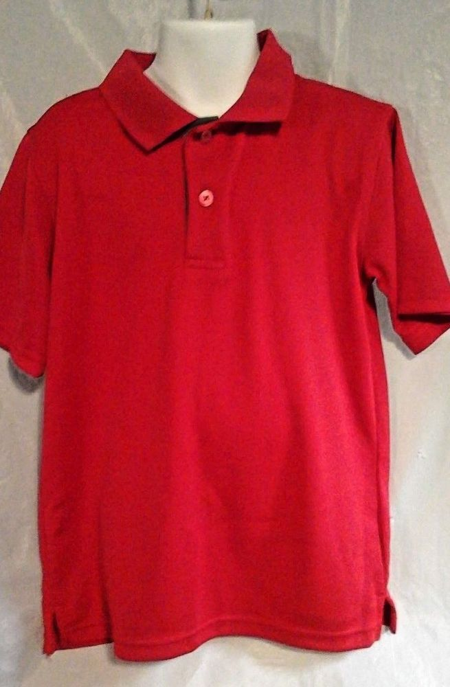 0e84c5c0 Boys Red Polo Shirt, Short Sleeve SZ S 6/7 #George | 2muchJunk | Red ...