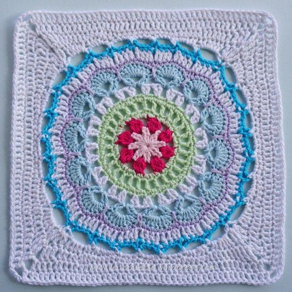 ganchillo patrón cuadrado de mandala | Granny squares | Pinterest ...