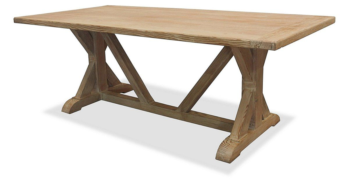 A beautiful, classic design, this dining table is crafted entirely with 100% solid reclaimed hardwood from Mendocino, CA. The base is sturdy and assembled using mortise-and-tenon joinery while the...