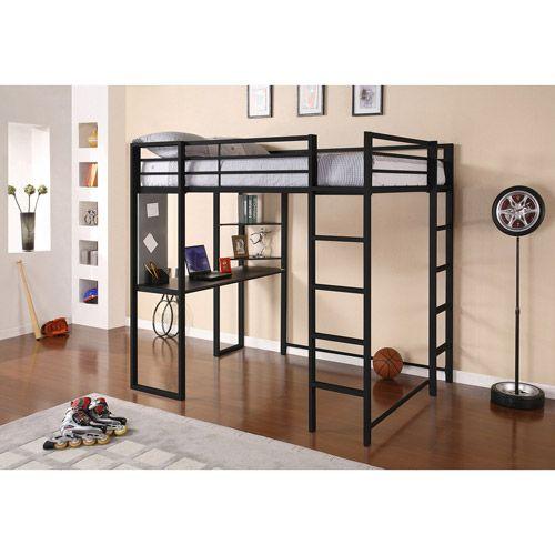 Home Modern Loft Bed Loft Bed Frame Bunk Bed With Desk