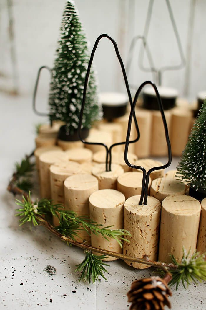 diy adventskranz aus korken das passt gingered things. Black Bedroom Furniture Sets. Home Design Ideas