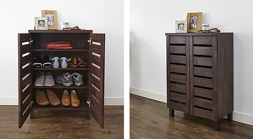 Slatted Shoe Storage Cabinet Cupboards Benches Cabinets