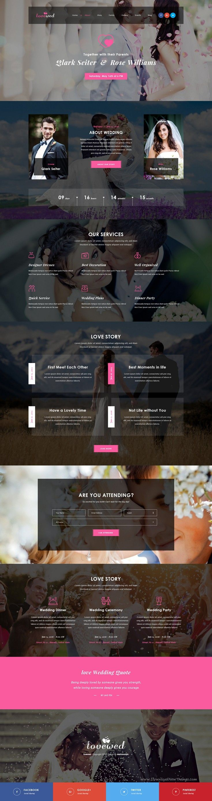 Lovewed is a clean PSD template with
