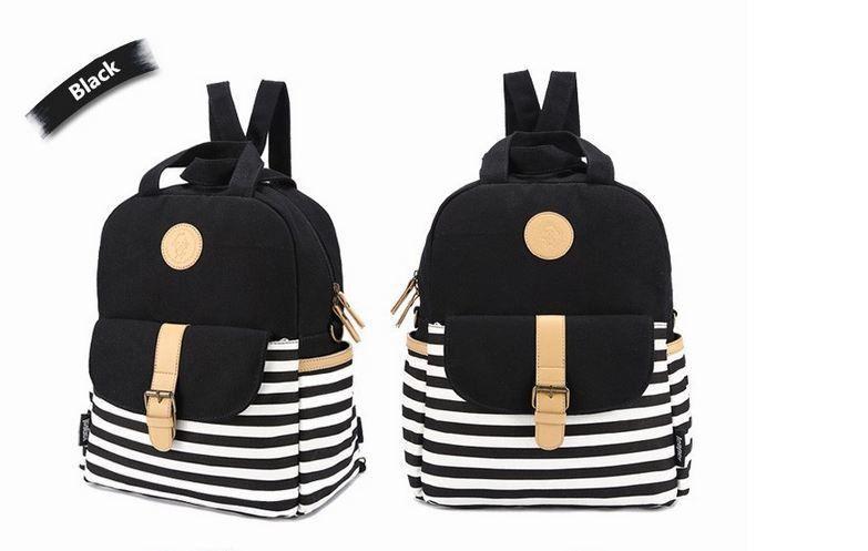 SUNBORLS Brand Korean Navy Fringe Women Canvas Backpack School Bags for Teenagers Girl Blue Bookbag mochilas femininas