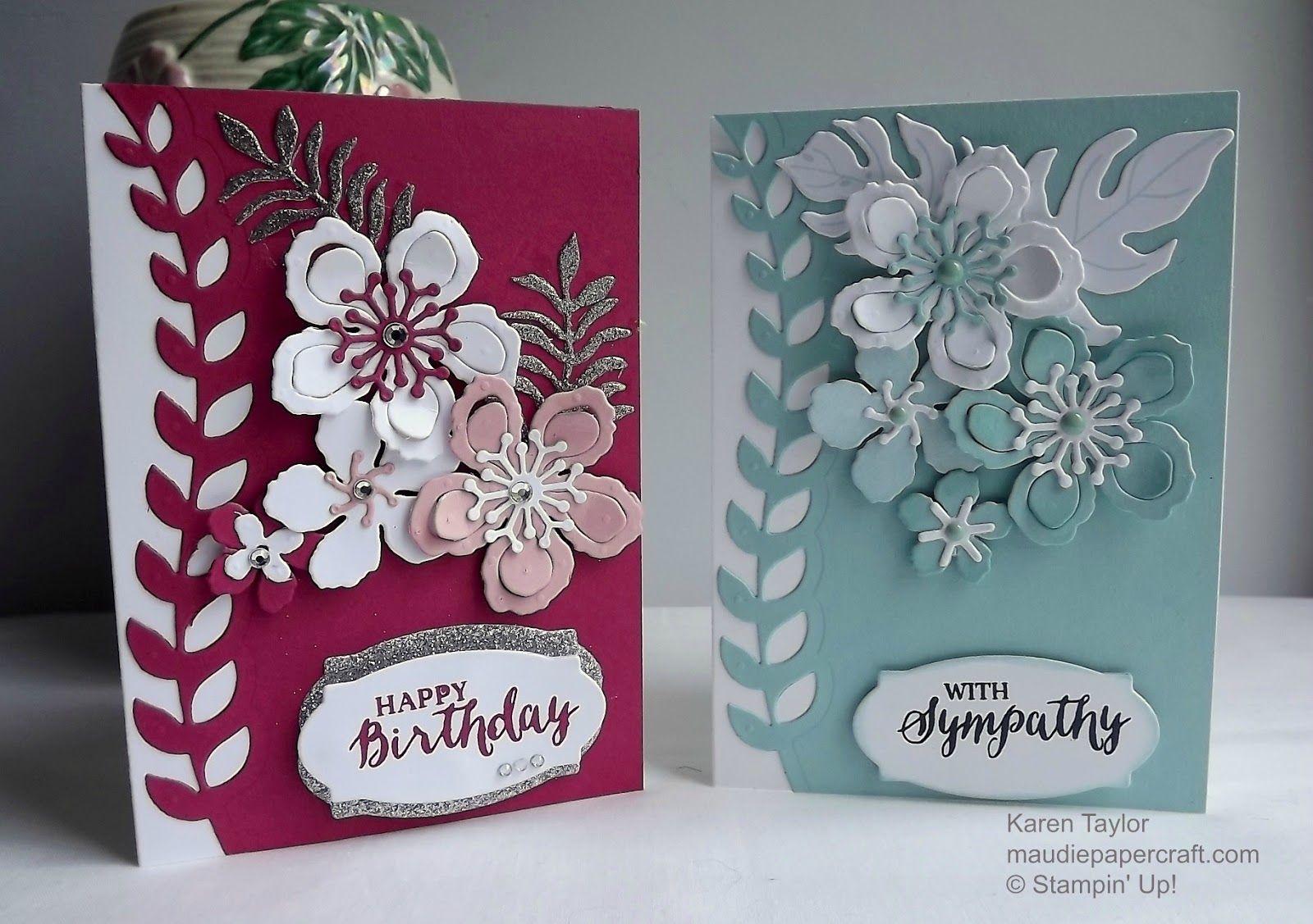 Maudiepapercraft stampinu up botanical blooms cards christmas
