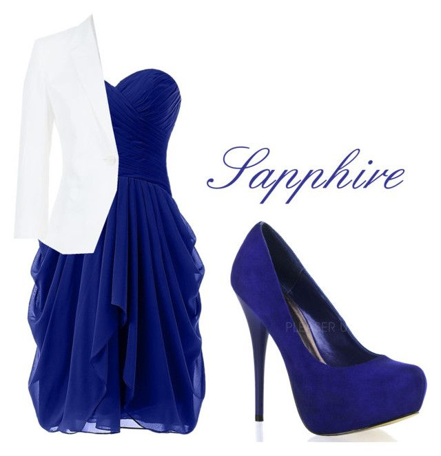 """""""Sapphire"""" by danieswims ❤ liked on Polyvore featuring MaxMara, sapphire and absolutelyfabulous"""