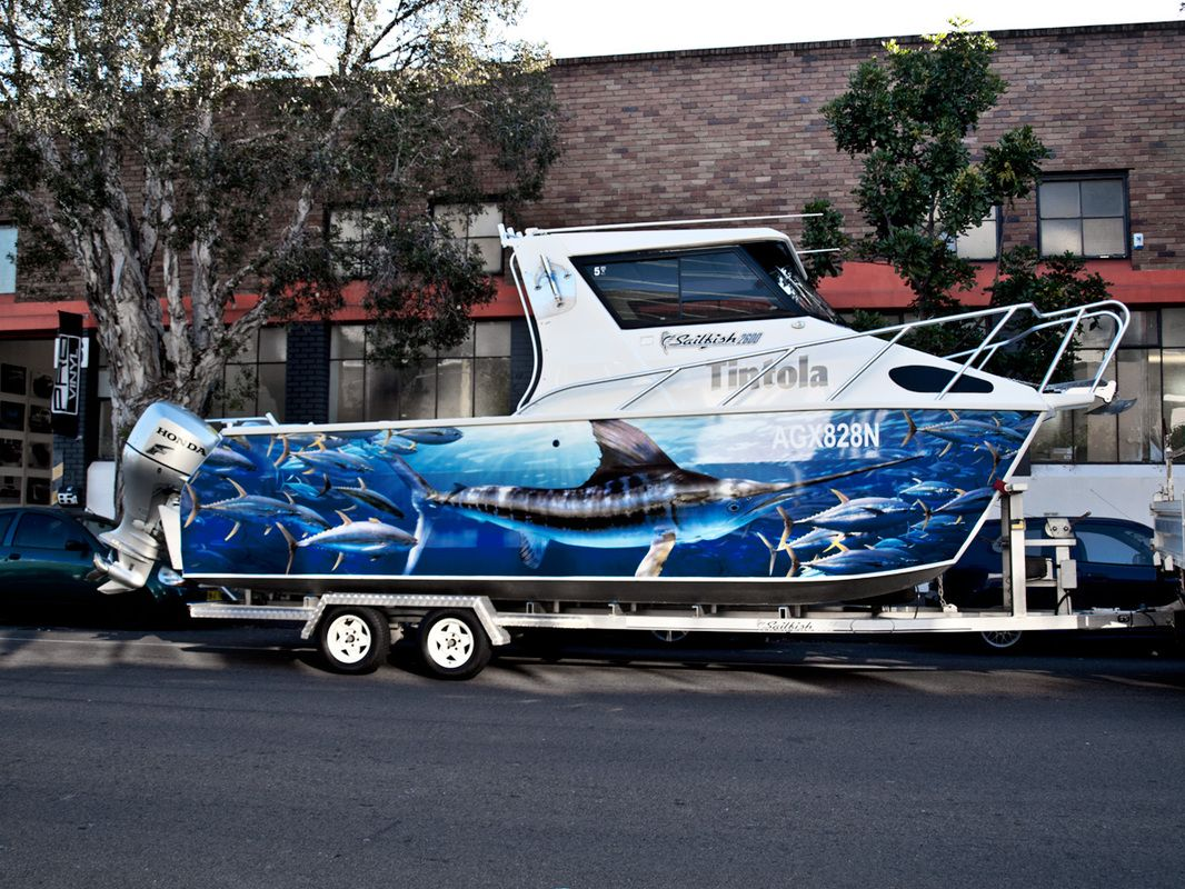 Full Boat Fish Graphics Sydney Boat Art Pinterest Fish - Vinyl boat graphics decals