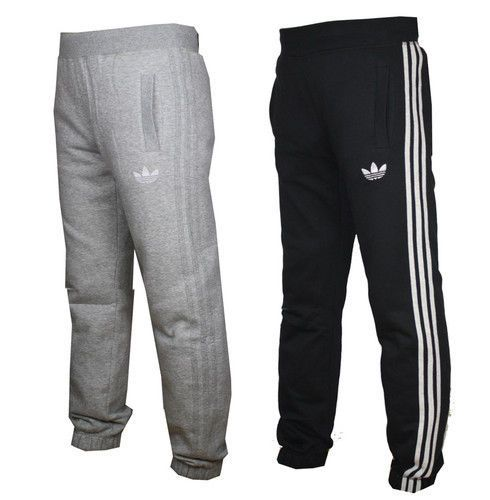 Details about Mens Adidas JOGGING PANTS Fleece Originals