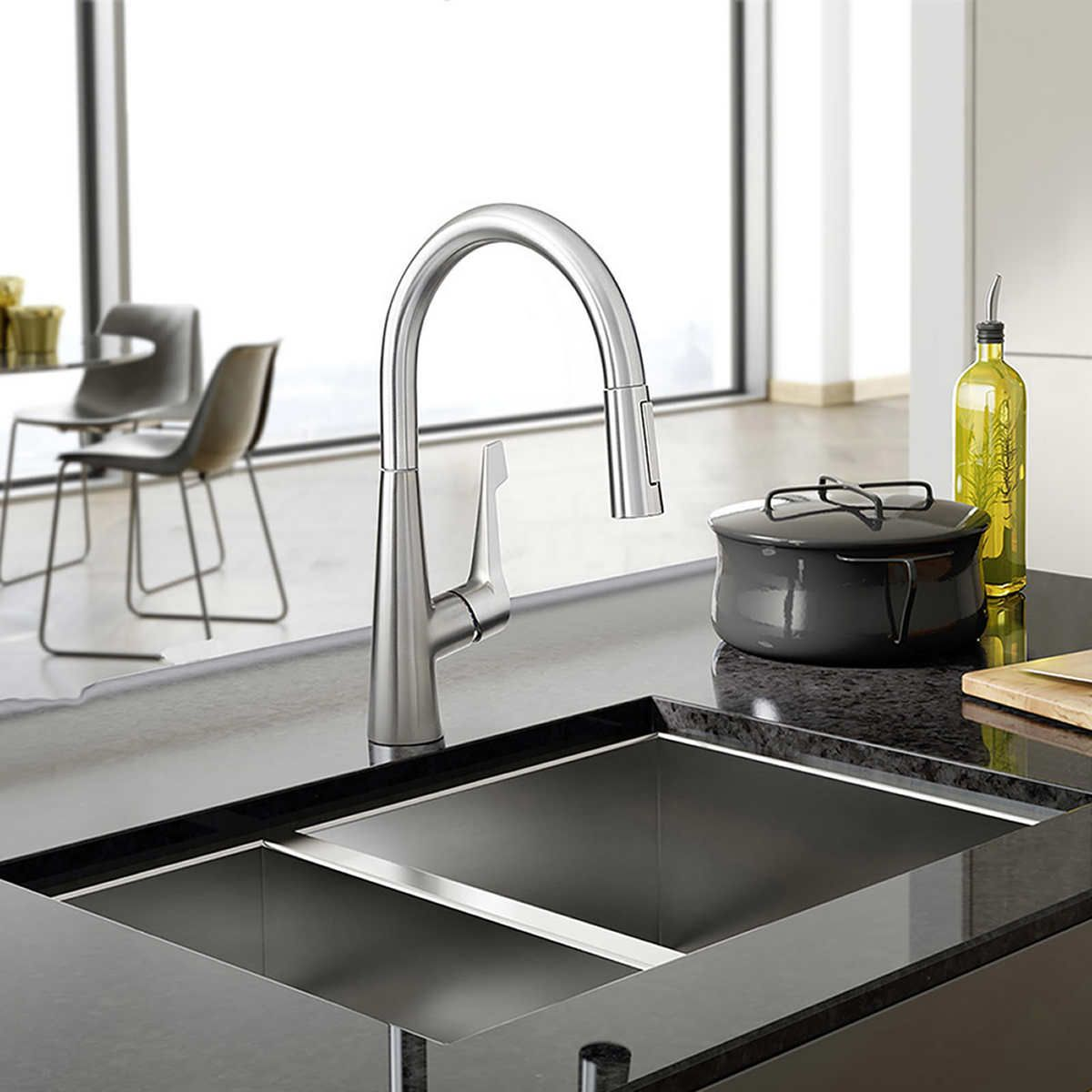Costco wholesale hansgrohe talis m pull down kitchen faucet
