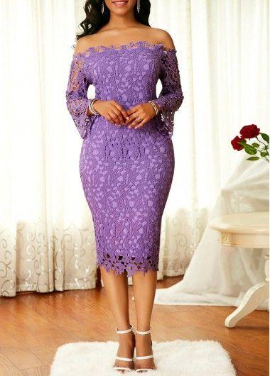 a5ec8f3883a4 Long Sleeve Off the Shoulder Dress