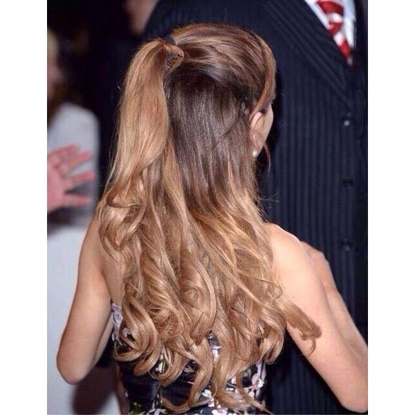 Ariana Grandes Hair Hair Liked On Polyvore Featuring Beauty