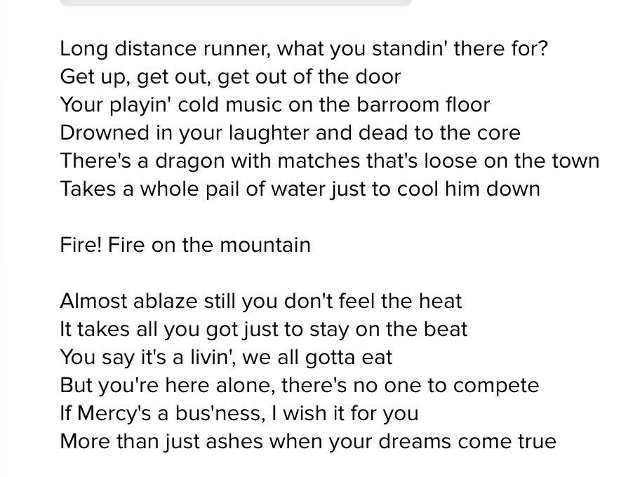 Grateful Dead Lyrics Fire On The Mountain Grateful