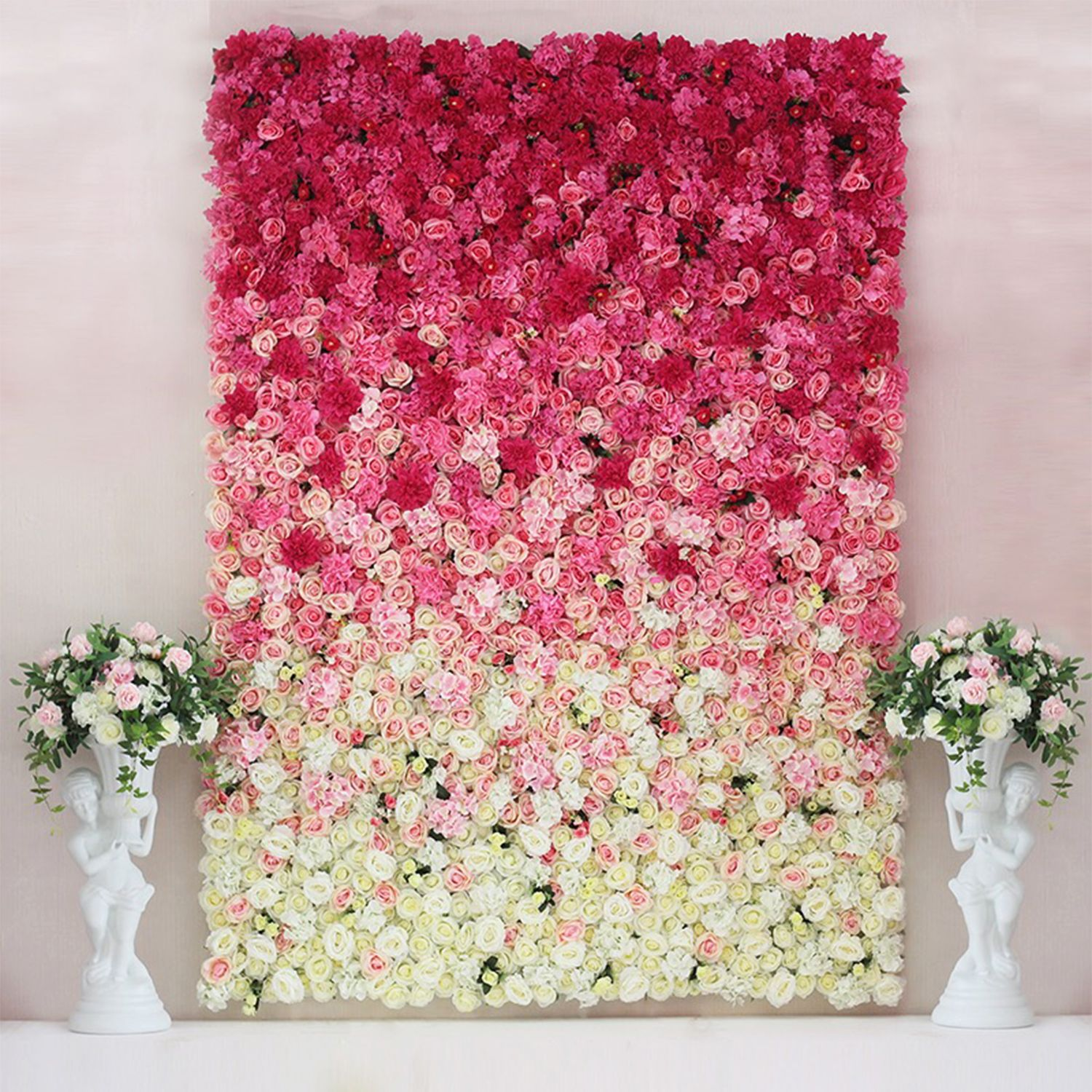 Artificial Flowers Wall For Wedding And Events Background Flower Wall Flower Wall Backdrop Flower Wall Wedding