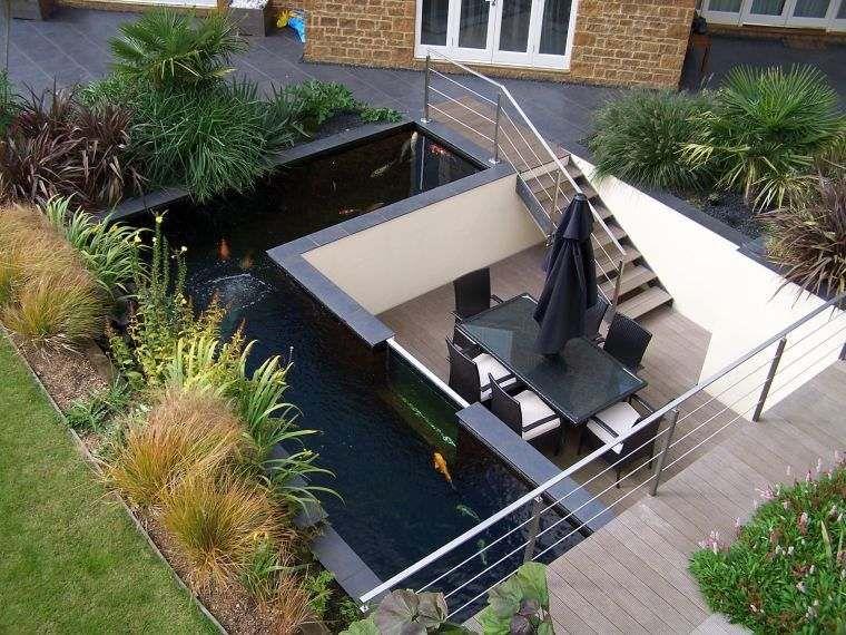 Bassin du0027eau dans le jardin  85 idées pour su0027inspirer Water features - terrasse bois avec bassin