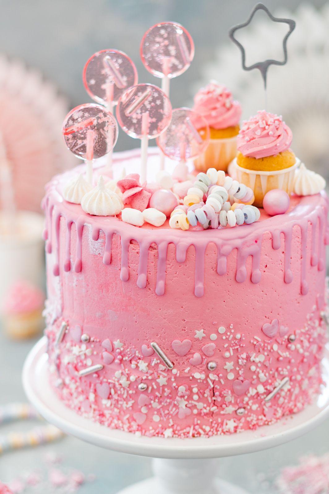 Madchen Geburtstagstorte Mit Himbeeren Mein Naschgluck Rezept Kuchen Und Torten Kuchen Und Torten Rezepte Leckere Torten