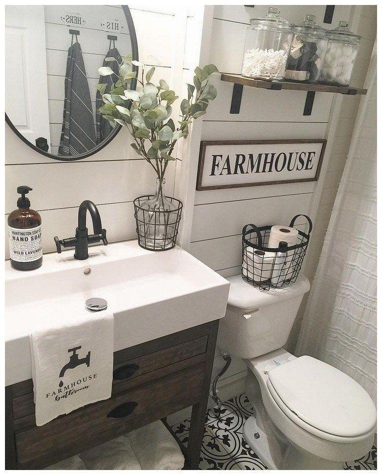 Photo of 57 Farmhouse Bathroom Organization Ideas #farmhousebathrooms 57 Farmhouse Bathro…