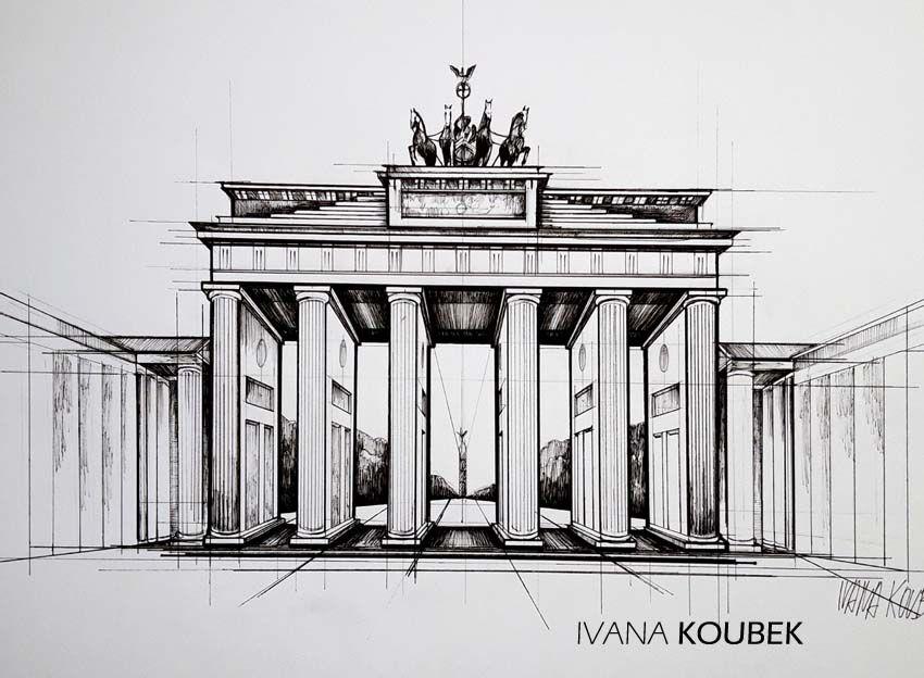 Berlin Brandenburger Tor Zeichnungen Zeichnung Kunst