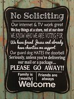 New -Wood Funny, No Soliciting Sign black & white Home privacy door FREE SHIP #nosolicitingsignfunny... - #black #funny #nosolicitingsignfunny #privacy #soliciting #white - #DoorQuotes #nosolicitingsignfunny