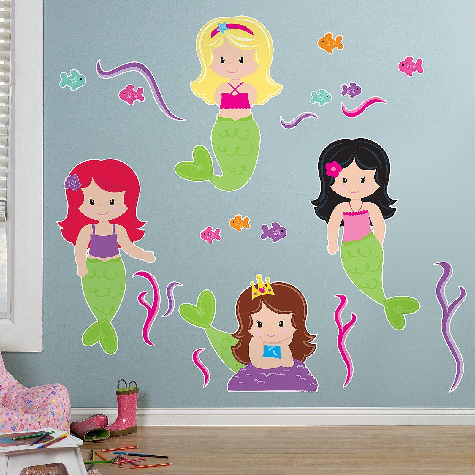 Mermaids Giant Wall Decals 78347 Kids Stuff Pinterest