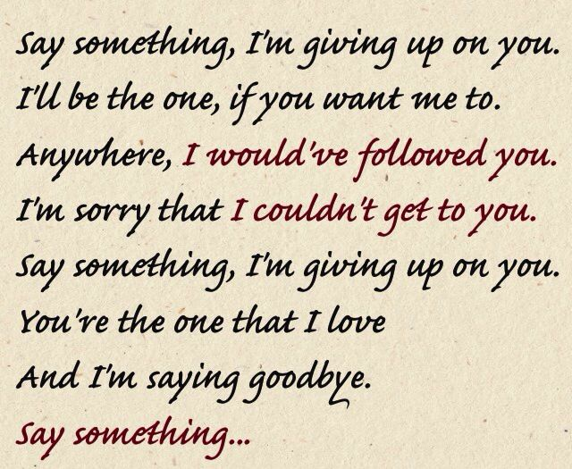 anywhere i would have followed youim sorry that i couldnt get to you say something