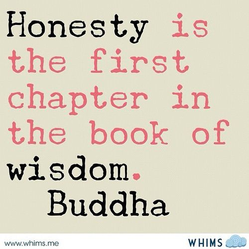 Honesty is the first chapter in the book of wisdom ...