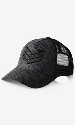f4eec249bef tweed chevron trucker hat from EXPRESS