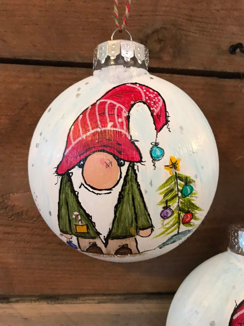 Christmas Gnome Ornament Etsy Homemade Christmas Crafts Disney Ornaments Diy Christmas Gnome