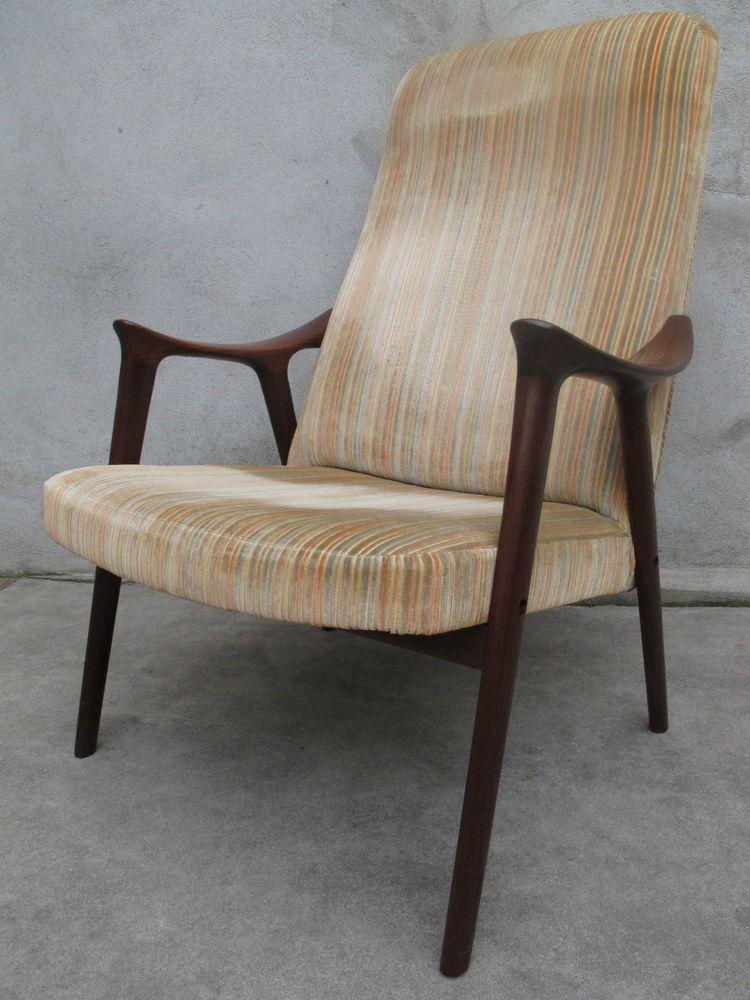 Danish Modern Teak Lounge Chair More Lenestolfabrikk Westnofa Mid
