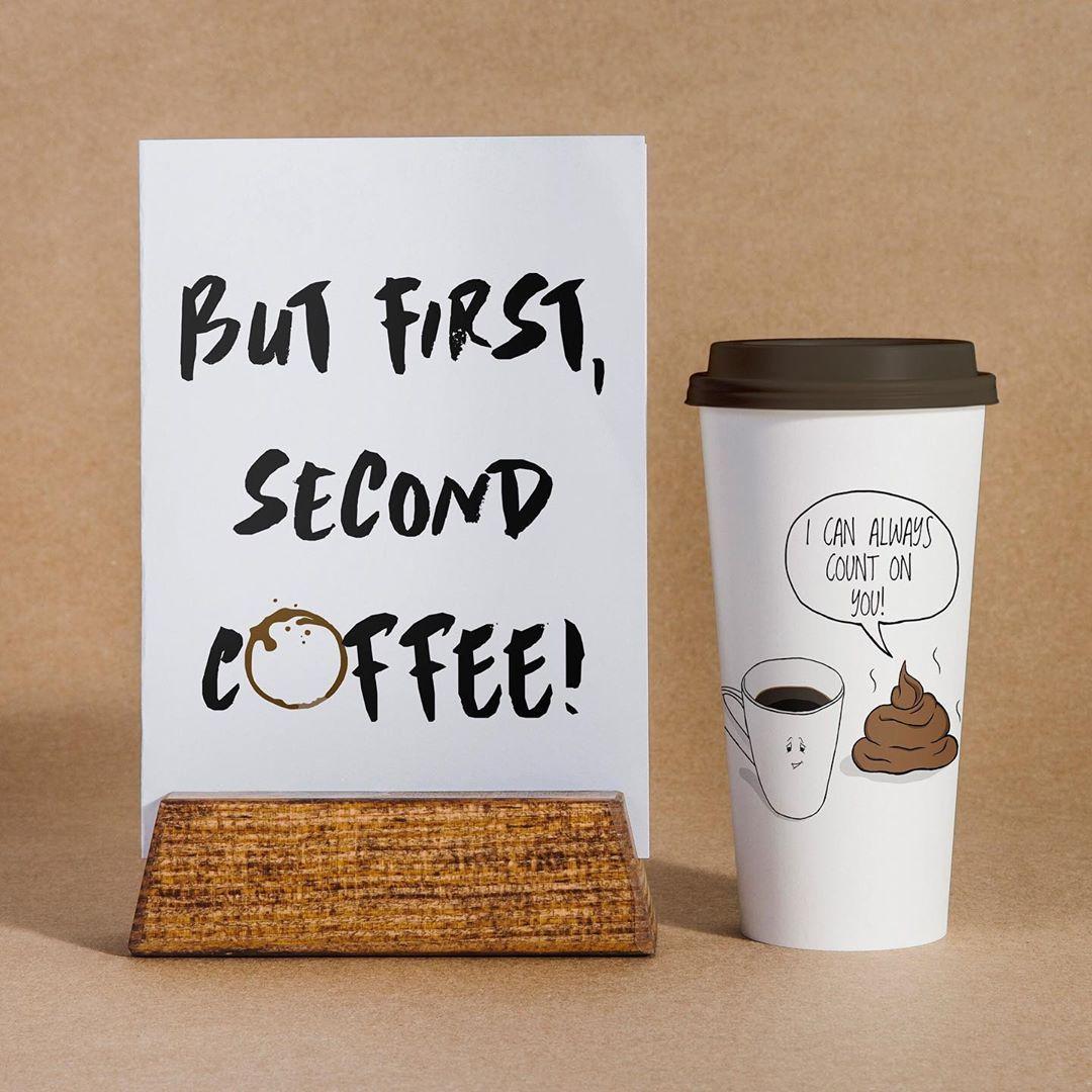 Don't talk to me until I finish my second coffee. 🙈☕️☕️ • [Second coffee print] • Visit us on Etsy: ~>.uk/shop/CartsyFartsy • Pridi na obisk: ~>rtsy- •