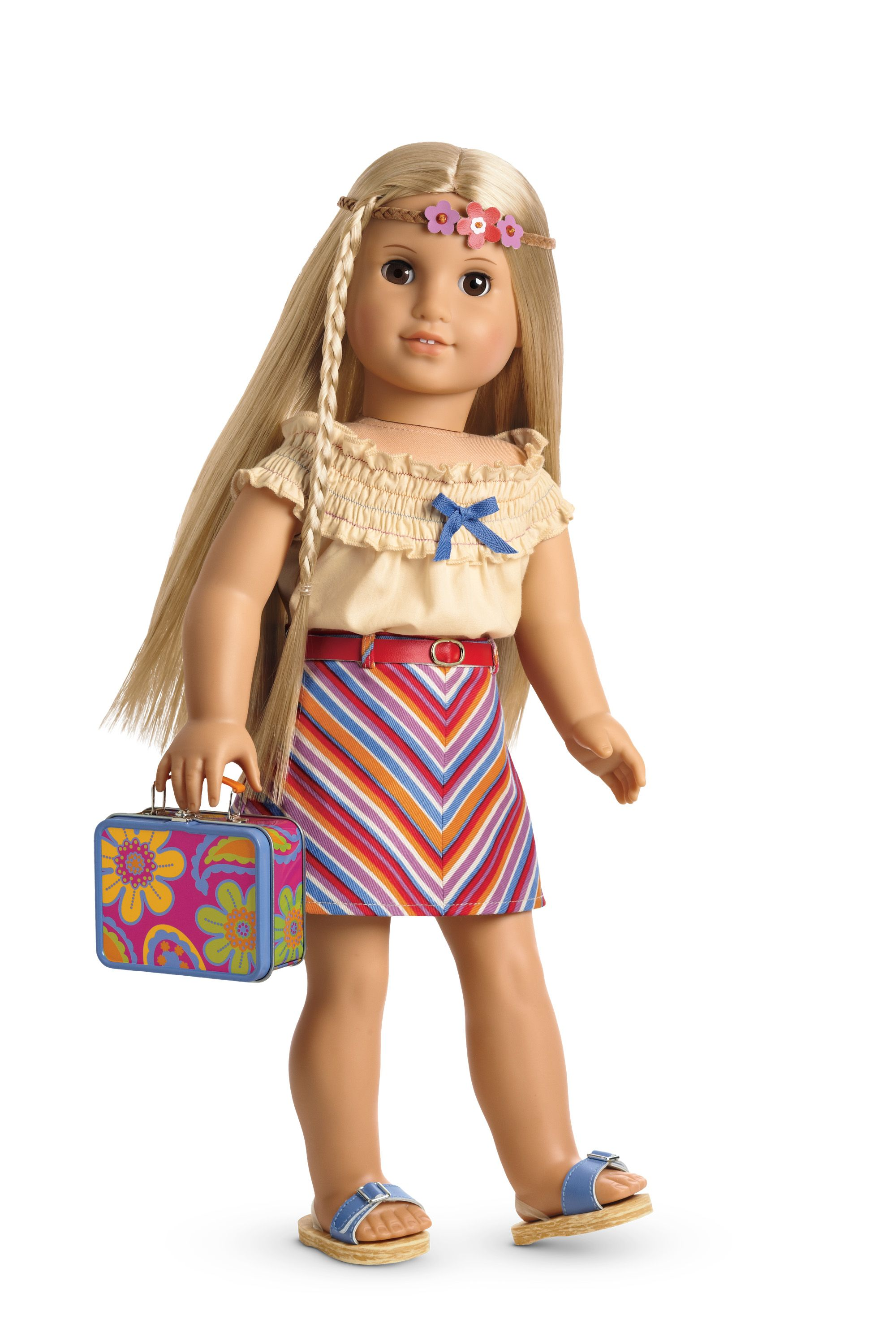 """METALLIC 4 Color Sandals Doll Clothes Accessories for 18/"""" American Girl Doll"""