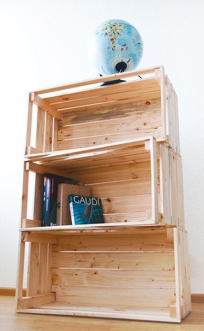 Moving boxes/shelf I designed and made! + cool swedish animal glope.