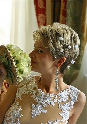 Very Short Hair Wedding Styles