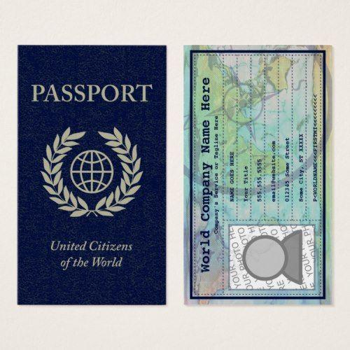 Passport business card business cards pinterest business cards passport business card colourmoves