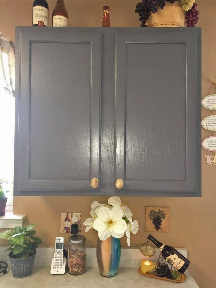 Kitchen in Driftwood Milk Paint | Milk paint, Painting oak ...