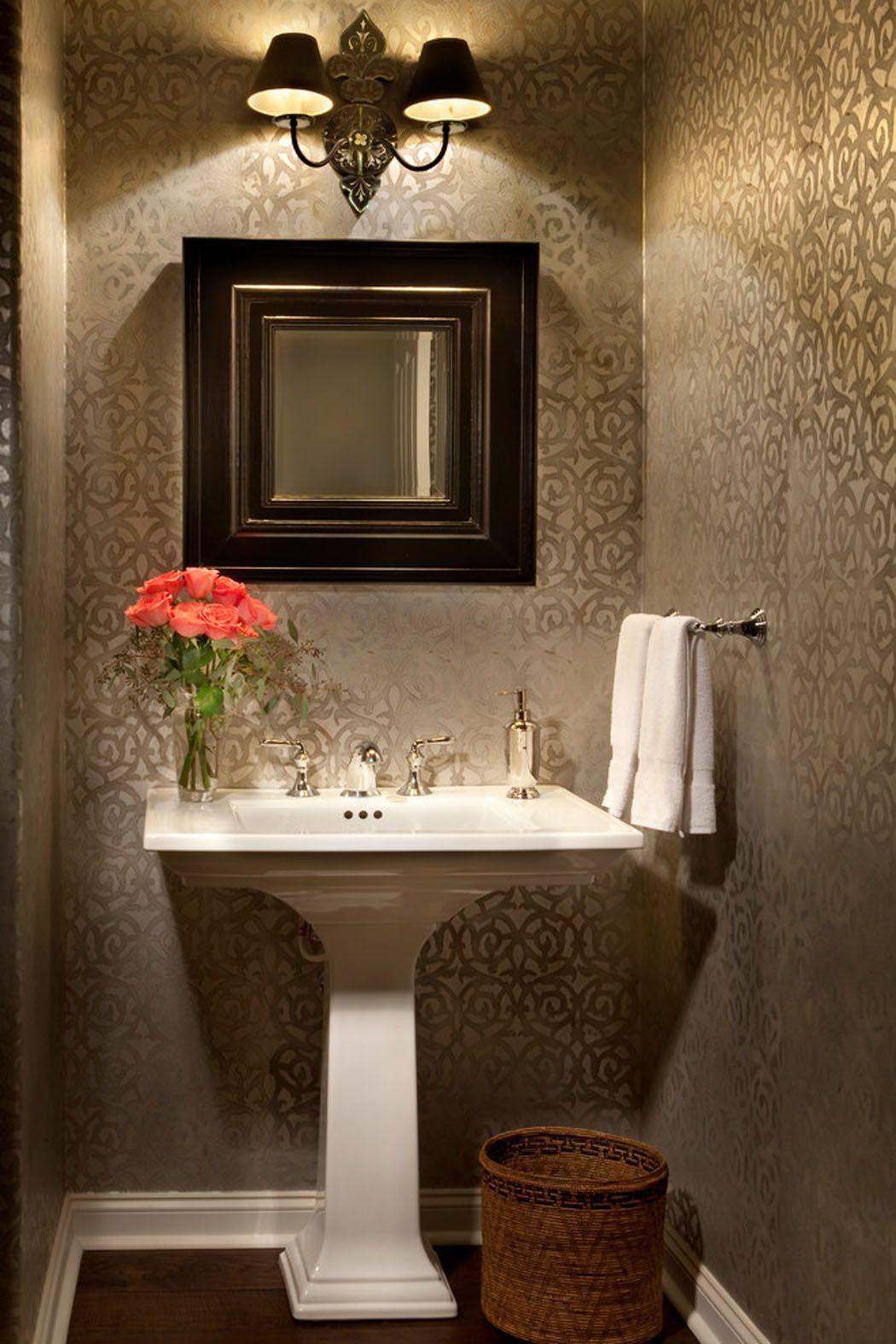 Dcoration aux lumires tamises pour les toilettes