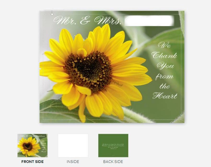 Custom wedding thank you cards blank note cards with