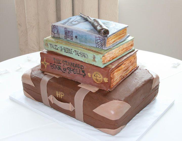 Harry Potter Groom's Cake - RedRaspberry Cakes