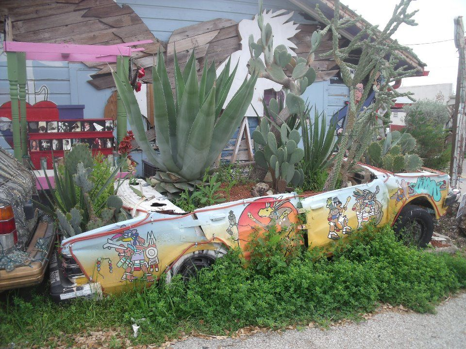 Car planter in Austin, Texas Great pictures, Flower