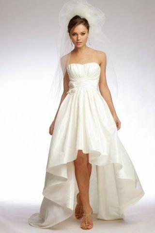 queusar: vestido de novia asimetrico corte a | ate en 2019