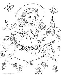 Vintage Easter Dress Coloring Page Vintage Coloring Books Spring Coloring Pages Easter Coloring Pages