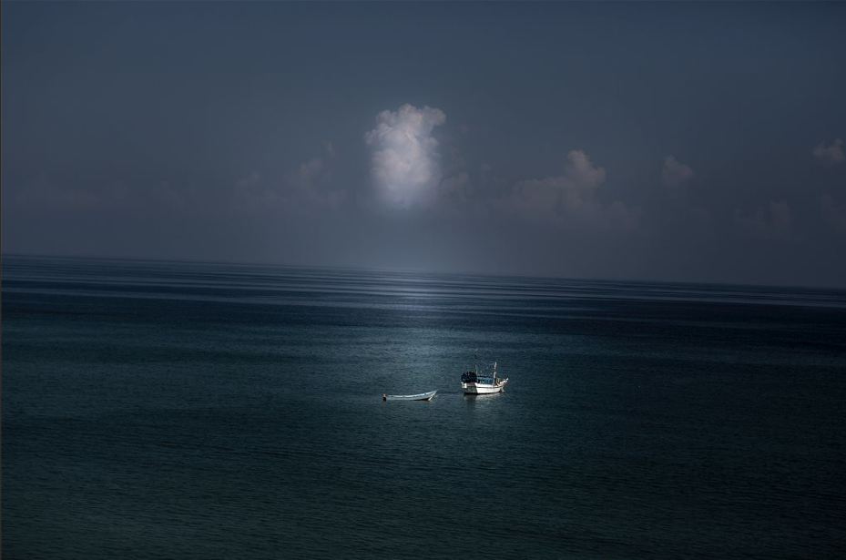 """""""Une barque à la mer"""" by Karim de la Plaine 2013"""